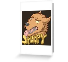 Spoopy Werewolf Greeting Card