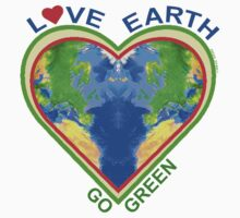 Love Earth Go Green (for light colors) Kids Clothes