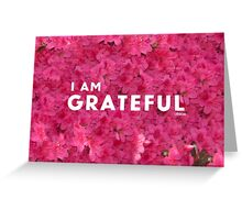 I am GRATEFUL  Greeting Card