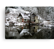 Winter House Canvas Print
