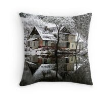 Winter House Throw Pillow