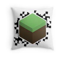 Grass Block Throw Pillow
