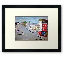 Empty Town Center Framed Print