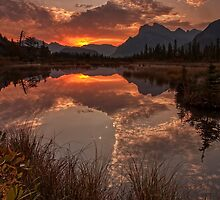 Vermillion Lakes by imagesbyalan