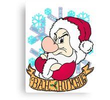 Grumpy Bah Humbug Canvas Print