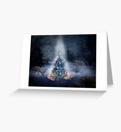 Christmas Day in the forest Greeting Card