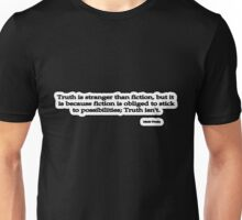 Stranger Than Fiction, Mark Twain Unisex T-Shirt