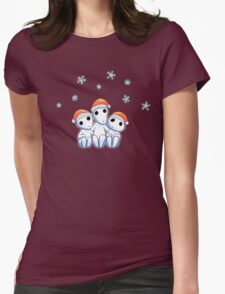 Tree Spirit Friends Christmas- Mononoke #2 Womens Fitted T-Shirt