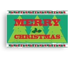Letterpress Merry Christmas Canvas Print