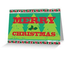 Letterpress Merry Christmas Greeting Card