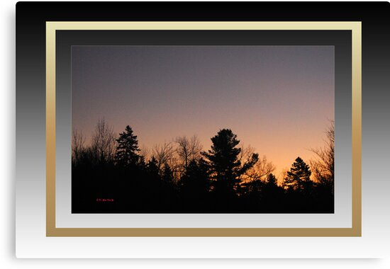 Dawn at Mont Laurier (framed for wall art/prints) by TerriRiver