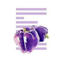 E is for Eggplant Photographic Print