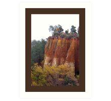 Provence Red Cliffs Art Print
