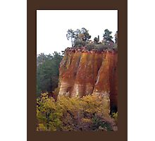 Provence Red Cliffs Photographic Print