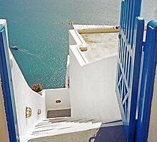 Gateway to the Caldera, Santorini by Leigh Penfold
