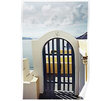 Doorway to the Caldera, Santorini Poster