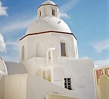 White Dome, Santorini by Leigh Penfold