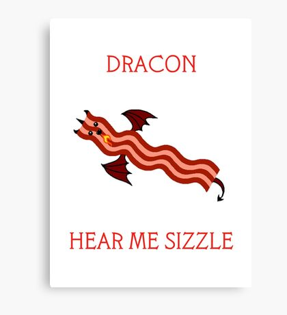 Dracon the Bacon Dragon Canvas Print