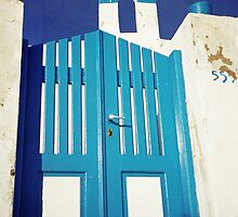 Blue Gate, Santorini by Leigh Penfold