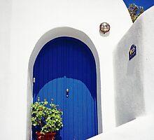 Blue Door, Santorini by Leigh Penfold
