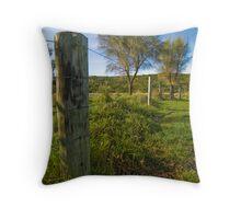 Fence & Tree Throw Pillow