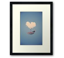 Umbrella Lifting Framed Print