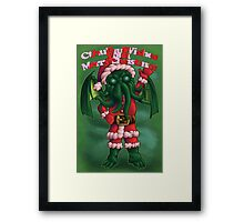 A Cthulhu Christmas time Framed Print