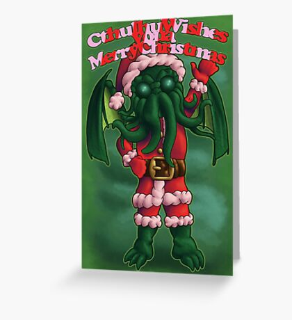 A Cthulhu Christmas time Greeting Card