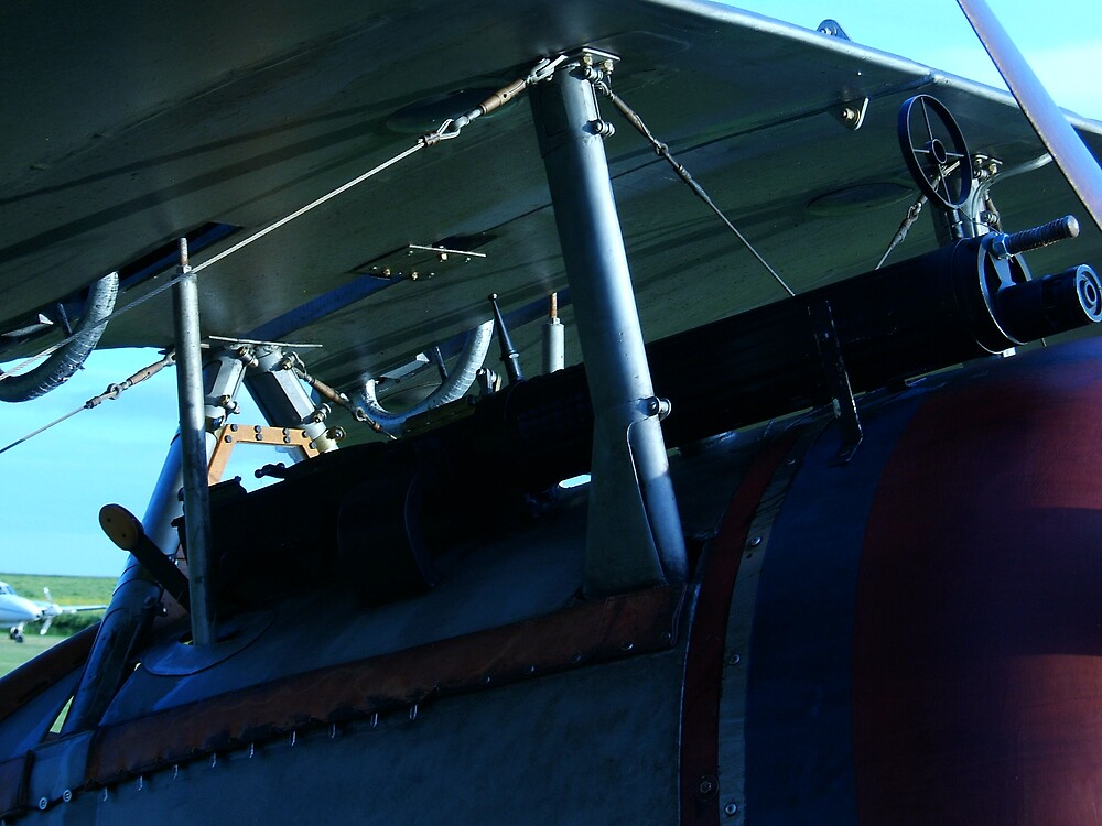 WWI Biplane Machine Gun by hastingsflyer
