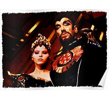 Emperor Ming and Princess Aura Poster