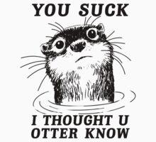 Angry Otter Kids Tee