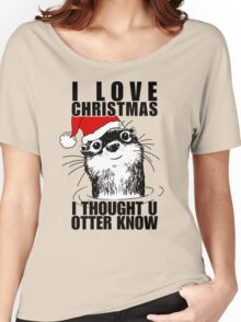 Christmas Otter Women's Relaxed Fit T-Shirt