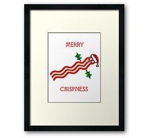 Merry Crispness Bacon Design Framed Print