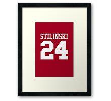 Stiles Stilinski Jersey #24 - White Text Framed Print