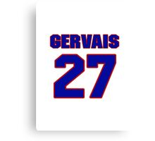 National Hockey player Bruno Gervais jersey 27 Canvas Print