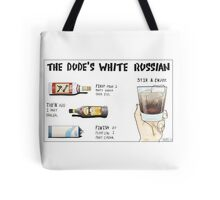 The Dude's White Russian Tote Bag