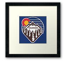 Colorado Throwback Framed Print