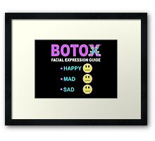 BOTOX - Facial Expression Guide (for dark colors) Framed Print