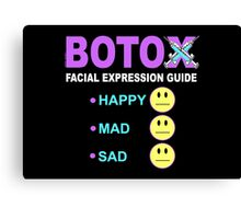 BOTOX - Facial Expression Guide (for dark colors) Canvas Print