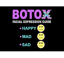 BOTOX - Facial Expression Guide (for dark colors) Photographic Print