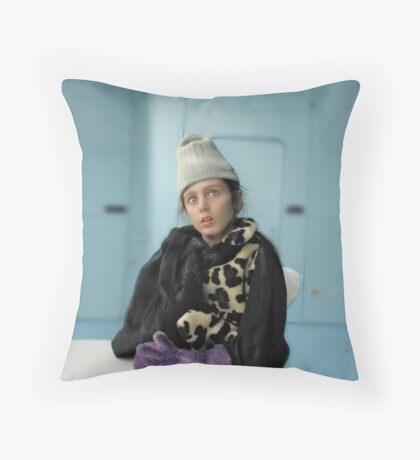 Perplexed and Frozen Throw Pillow