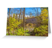 USA. Connecticut. Kent. Bulls Covered Bridge. Greeting Card