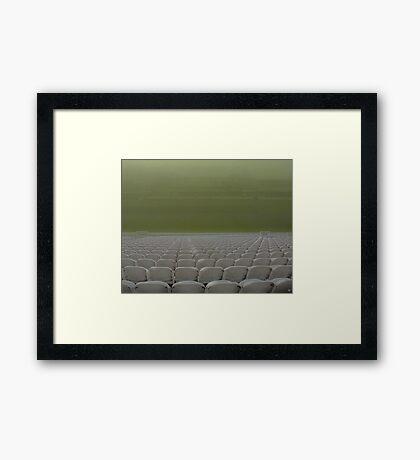 Lord's In Fog Framed Print