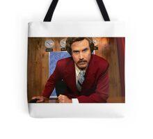 Ron Burgundy Tote Bag