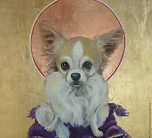 Long Haired Chihuahua as King by M. E.  Bilisnansky McMorrow