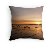 Dawn breaks today Throw Pillow