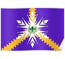 Elsanna flag w/ stripes Poster