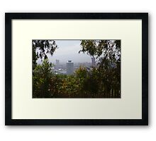 Barcelona from the Mountain Framed Print
