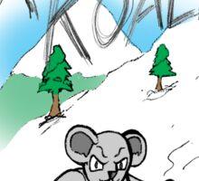 Extreme Koala Snowboarder Sticker