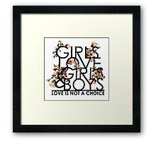 GIRLS/GIRLS/BOYS Framed Print